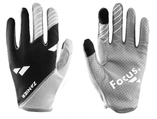Zanier SHREDDER Unisex Mountainbike Handschuh, Anthrazit/Schwarz