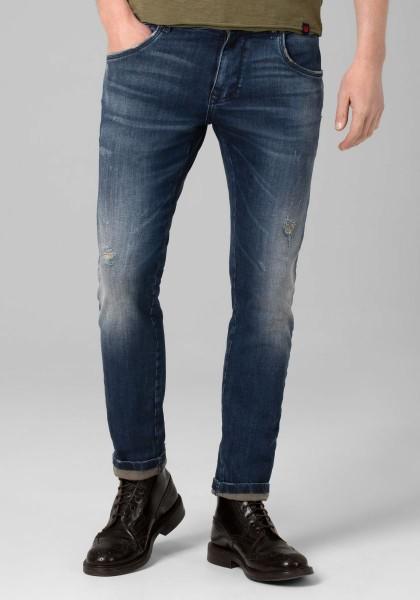 TIMEZONE SCOTT Herren Slim Jeans (32er Länge), Rich Blue Wash