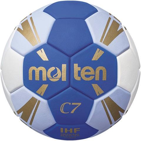 molten H1C3500-BW Handball, Blau/Weiss/Gold