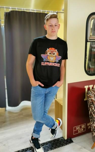 Klippenkuckuck MAYA Unisex T-Shirt, Schwarz