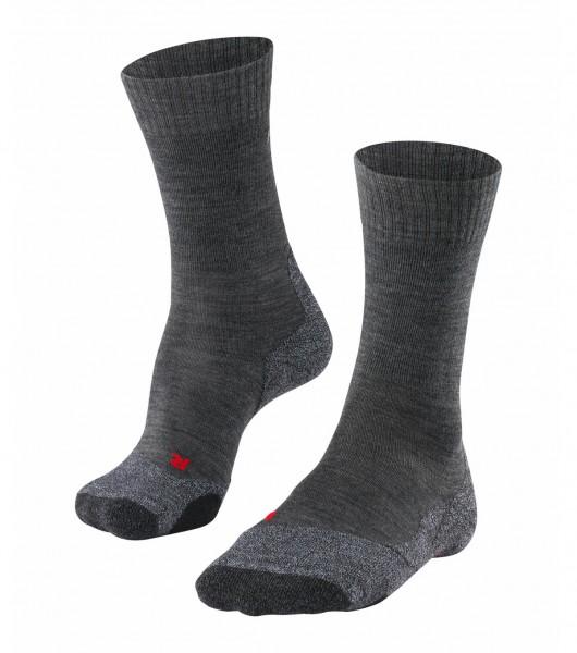Falke TK2 Damen Trekking Socken, Asphalt Melange