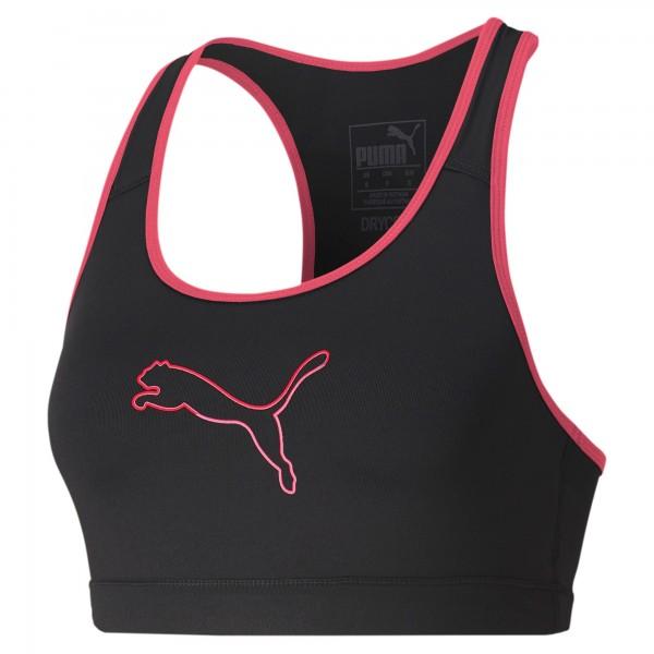 Puma 4KEEPS Damen Sport-BH, Puma Black/Ignite Pink-Cat