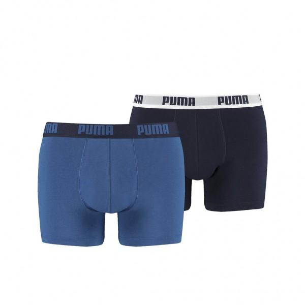 Puma BASIC Herren Boxer-Shorts 2er Pack, True Blue