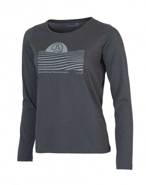Ternua FULA Damen Natureshell T-Shirt, Whales Grey