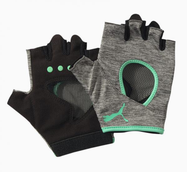 Puma ACTIVE TRAINING Damen Fitness-Handschuhe, Heather/Green Glimmer