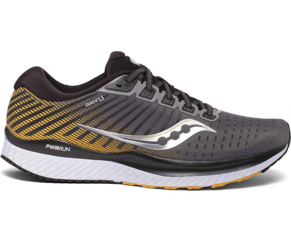 Saucony GUIDE 13 Herren Laufschuh, Grey/Yellow