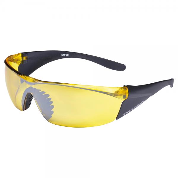 Cratoni TEMPER Unisex Sportbrille, Yellow/Black Matt