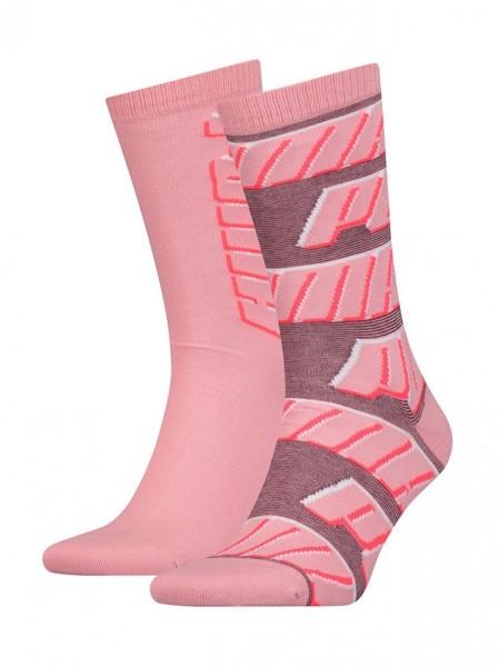 291001001246/246 Puma SOCK ALL OVER LOGO Damen Socken (2er Pack), Rose Water