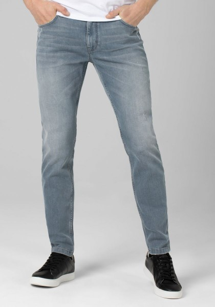 TIMEZONE EDUARDO Herren Slim Jeans (34er Länge), Metal Grey Wash