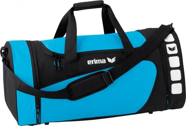 Erima CLUB 5 LINE SMALL 28L Sporttasche, Curacao/Schwarz