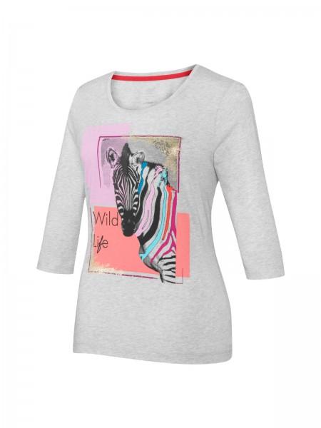JOY sportswear BETTY Damen T-Shirt, Pflaume bedruckt