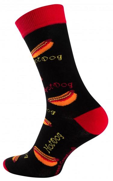 Vincent Creation® FAST FOOD Unisex Casual Socken, Hot Dog