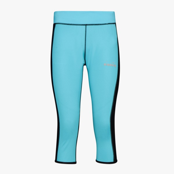 diadora L. 3/4 REVERSIBLE TIGHTS Damen Running-Leggings, Sky-Blue Scuba