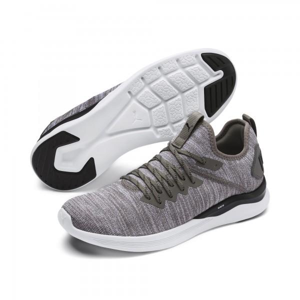 Puma IGNITE FLASH evoKNIT Herren Sneaker, Steel Gray/Puma Black