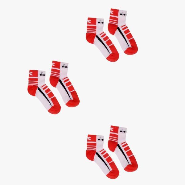 diadora 3 QUARTER Herren Sport-Socken, Lively Hibicus/Black/Optical White