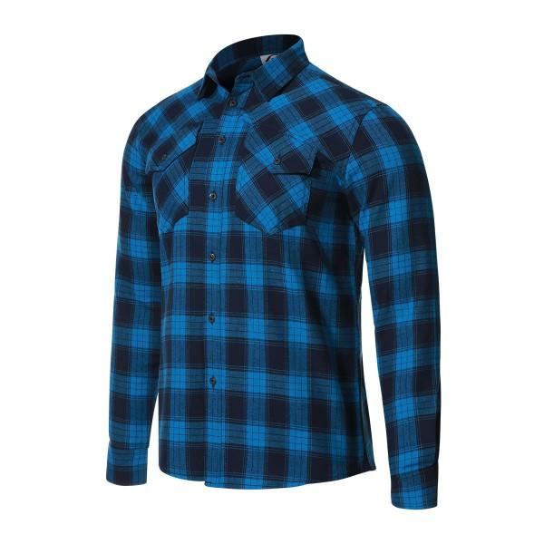 115007-880 Protective P-ROCKABILLY Herren Bike & Outdoor Longsleeve Hemd, Blue