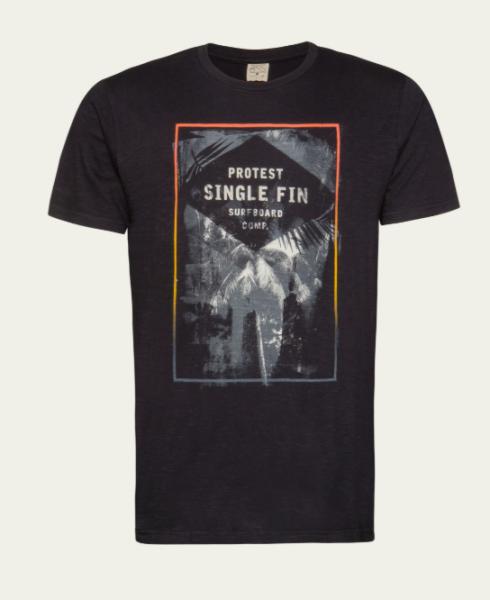 Protest INSET Herren T-Shirt, True Black
