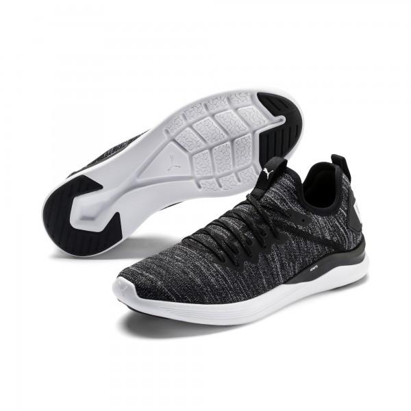 Puma IGNITE FLASH evoKNIT Herren Sneaker, Black/Asphalt/White
