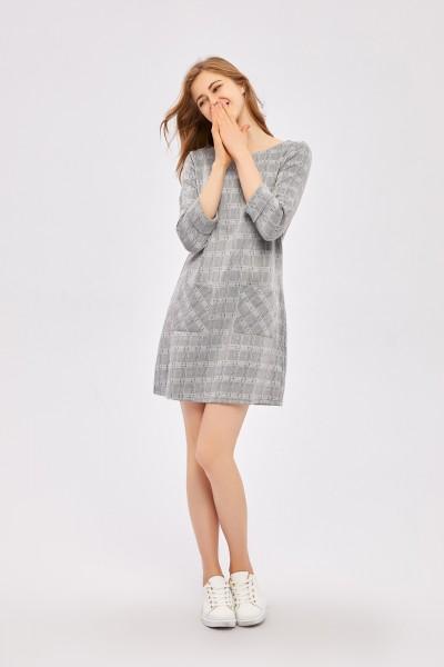 aiki Keylook CHUN TEE Damen Kleid, Light Grey