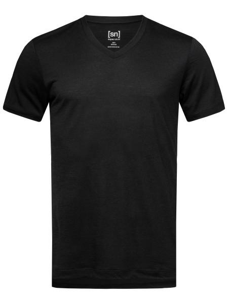 SNM003830872M super.natural M BASE V-NECK TEE 140 T-Shirt (Shortsleeve), Black
