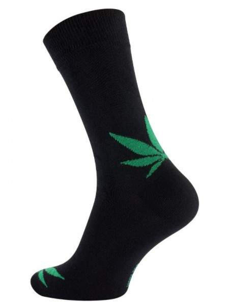 Vincent Creation® 365 HIGH Unisex Casual Socken, Schwarz/Grün