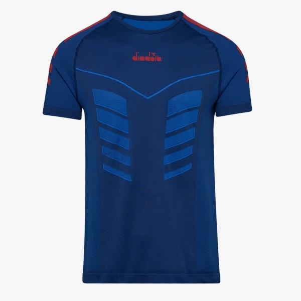 diadora SS SKIN FRIENDLY Herren Running-T-Shirt, Blue Regista