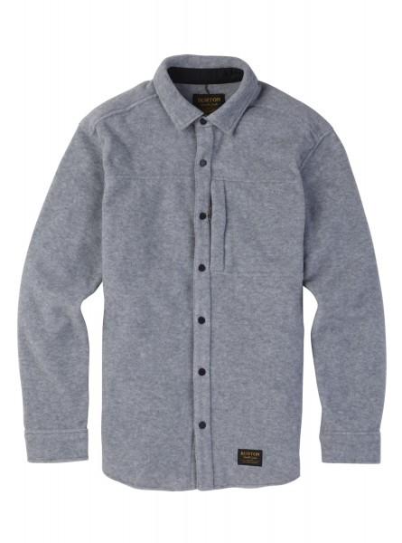 Burton SPILLWAY Herren Fleece-Hemd, Gray Heather