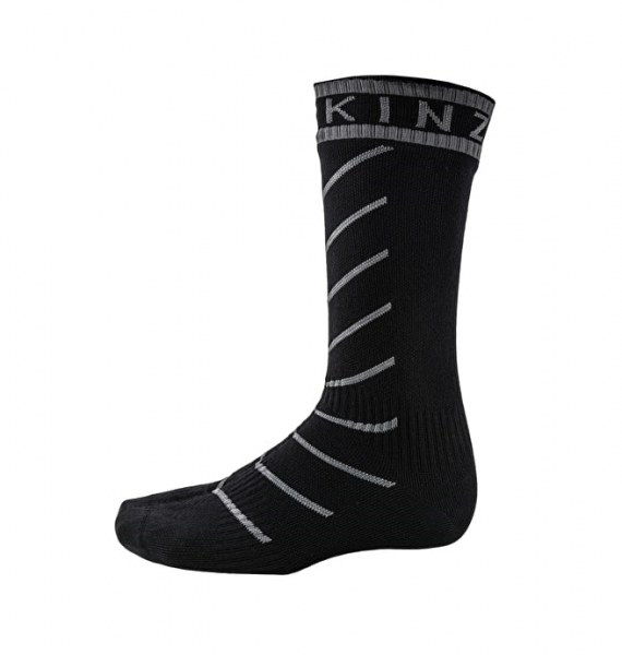 Sealskinz SUPER THIN PRO MID HYDROSTOP Unisex Outdoor/Sport Socken, Black/Grey