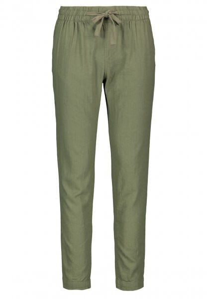 Fresh Made LEINENHOSE mit Stoffkordel Damen, Green
