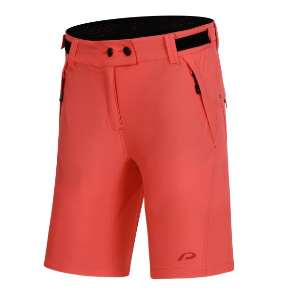 127005-540 Protective P-AFTER HOUR Damen Bike/Fahrrad Baggy-Short, Fiery Coral