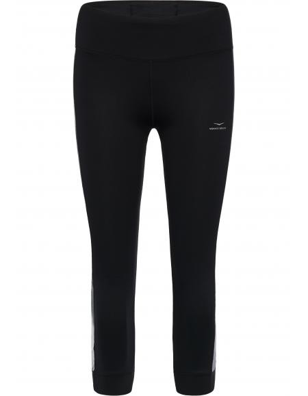 Venice Beach BLUES Damen Caprileggins, Black/Graphit