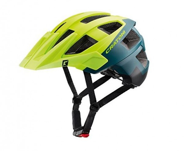 110620Cx Cratoni ALLSET Unisex Fahrradhelm, Lime/Petrol/Black Matt