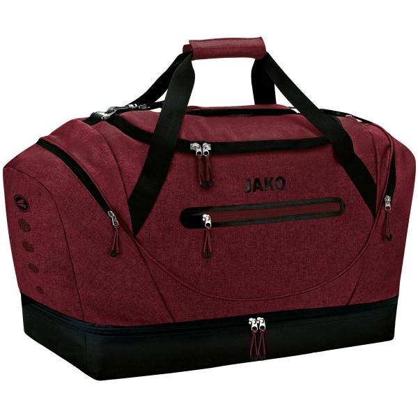 JAKO CHAMP Junior Sporttasche mit Bodenfach, Rot Meliert