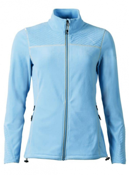 Northland BELLINA Damen Fleece Jacke, Light Blue