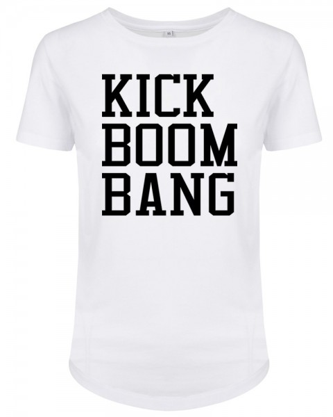 zopfball FSSBLL KICK-BOOM-BANG-SHIRT WOMEN`S CUT Damen T-Shirt, White