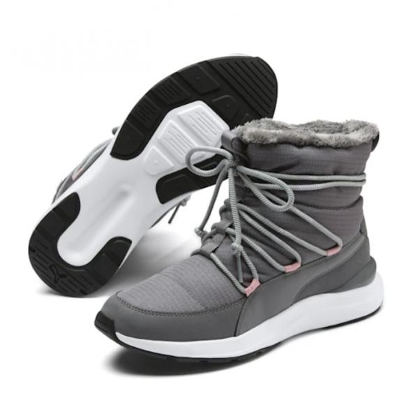 Puma ADELA Damen Winterstiefel, Steel Gray-Puma White
