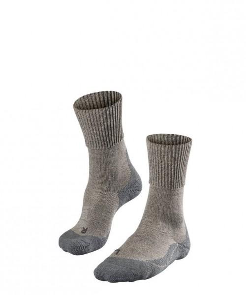 Falke TK1 WOOL Damen Trekking Socken, Kitt-Mouline