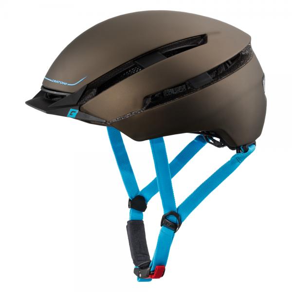 Cratoni C-LOOM Unisex Fahrradhelm, Brown-Blue Rubber