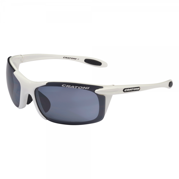 Cratoni AIR BLAST Unisex Sportbrille, White/Black Shiny