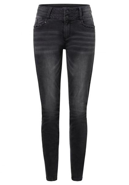 TIMEZONE SLIM ENYA WOMANSHAPE Damen Jeans (32er Länge), Black Brushed Wash