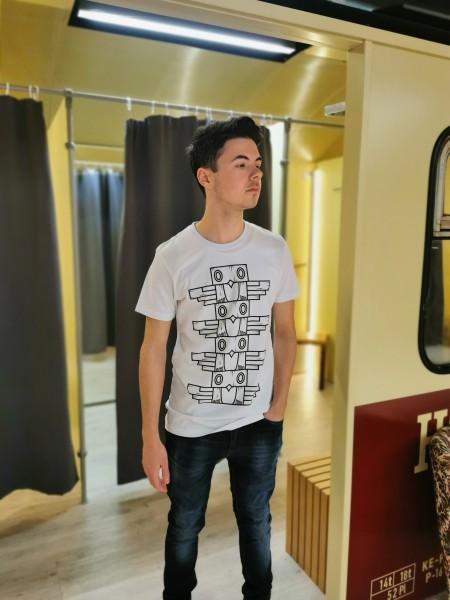Klippenkuckuck MOCK UP Unisex T-Shirt, Weiß