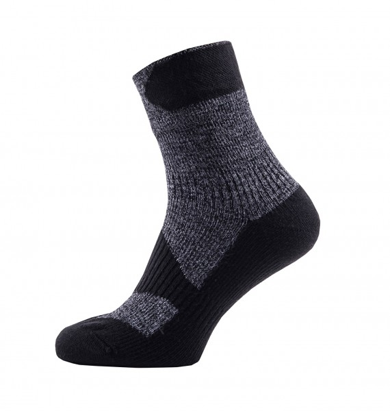 Sealskinz WALKING THIN ANKLE Unisex Outdoor/Sport Socken, Dark Grey/Black