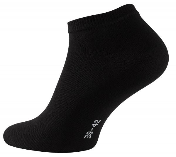 Stark Soul ESSENTIALS Unisex Sneaker-Socken, Schwarz