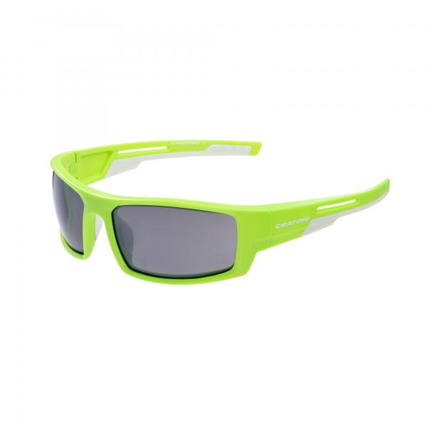 Cratoni RAW Unisex Sportbrille, Neongreen/White Matt