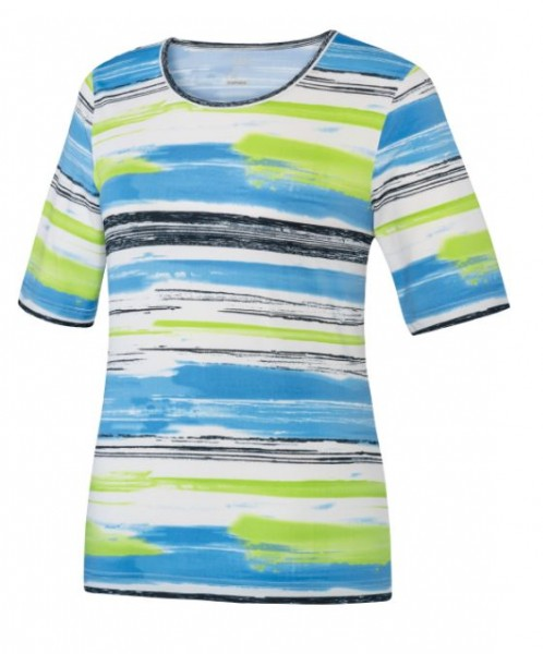 JOY sportswear AMALIA Damen T-Shirt, Azur gestreift