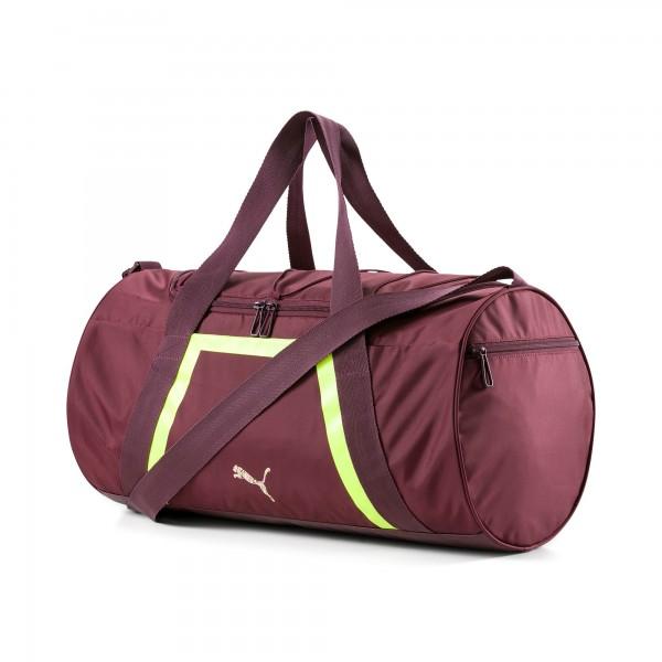 Puma ACTIVE TRAINING SHIFT Damen Trainingstasche, Vineyard Wine/Yellow Alert