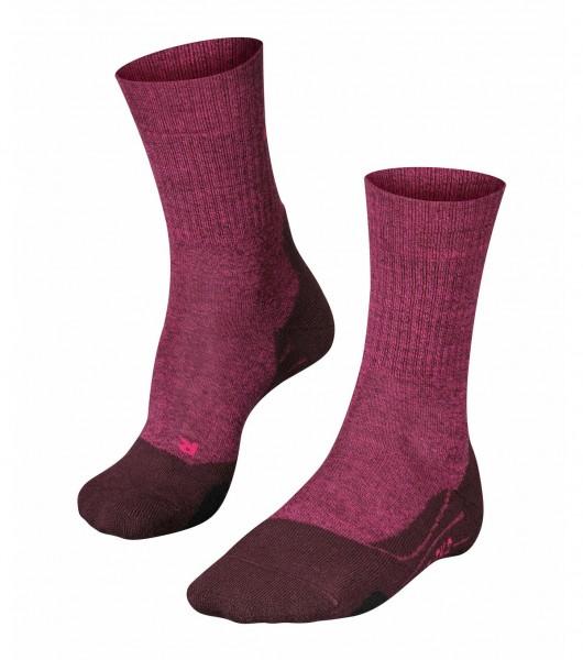 Falke TK2 WOOL Damen Trekking Socken, Burgundy