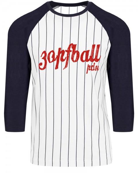 zopfball NADINE ANGERER PDX MEN`S CUT Unisex Baseball-Shirt, Dark Blue