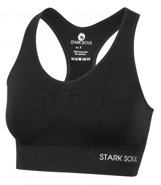 Stark Soul BRA Damen Sport-BH (doppellagig, Light Support), Schwarz