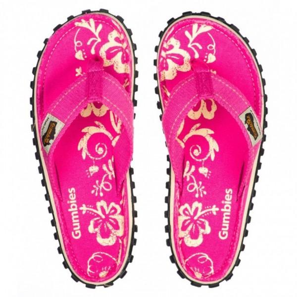 PINK HIBISCUS Damen & Mädchen Flip-Flops/Strandsandale, Pink